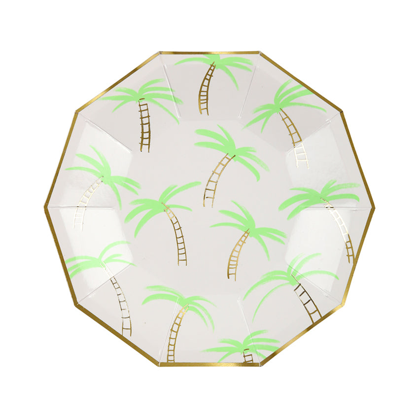 Meri Meri Palm Trees Paper Plates - Small