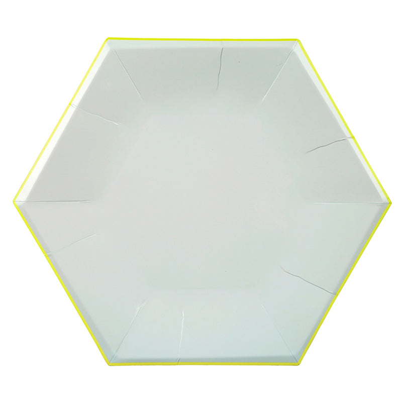 Meri Meri Hexagonal Mint Pastel Paper Plates - Large, MM-Meri Meri UK, Putti Fine Furnishings