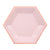 Meri Meri Hexagonal Pink Pastel Paper Plates - Small, MM-Meri Meri UK, Putti Fine Furnishings