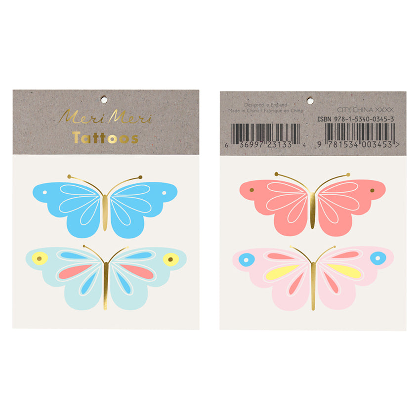 "Meri Meri ""Neon Butterfly"" Tattoos"
