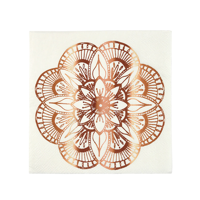 Meri Meri Mandala Pattern Paper Napkins - Small, MM-Meri Meri UK, Putti Fine Furnishings