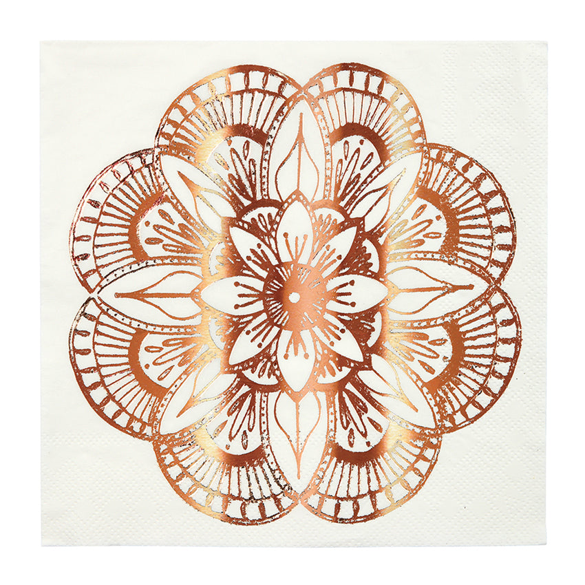 Meri Meri Mandala Pattern Paper Napkins - Large, MM-Meri Meri UK, Putti Fine Furnishings