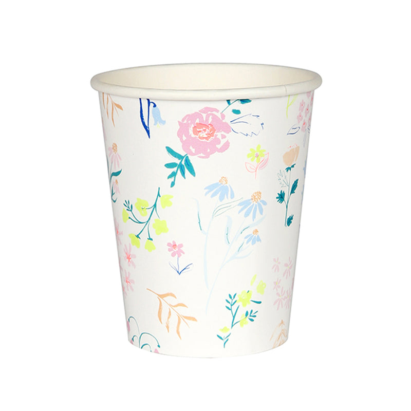 Meri Meri Wildflower Pattern Paper Cups, MM-Meri Meri UK, Putti Fine Furnishings