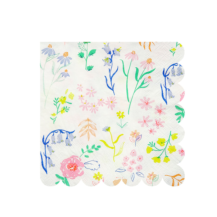 Meri Meri Wildflower Pattern Napkin - Small