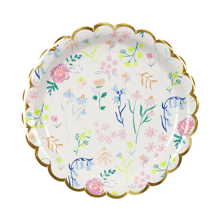 Meri Meri Wildflower Pattern Paper Plate - Small, MM-Meri Meri UK, Putti Fine Furnishings