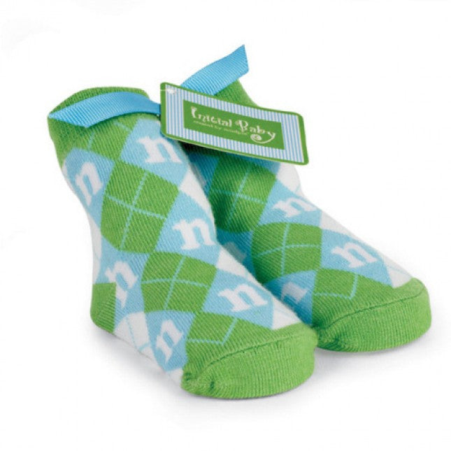 Mud Pie Boys Initial Argyle Socks, MP-Mud Pie, Putti Fine Furnishings