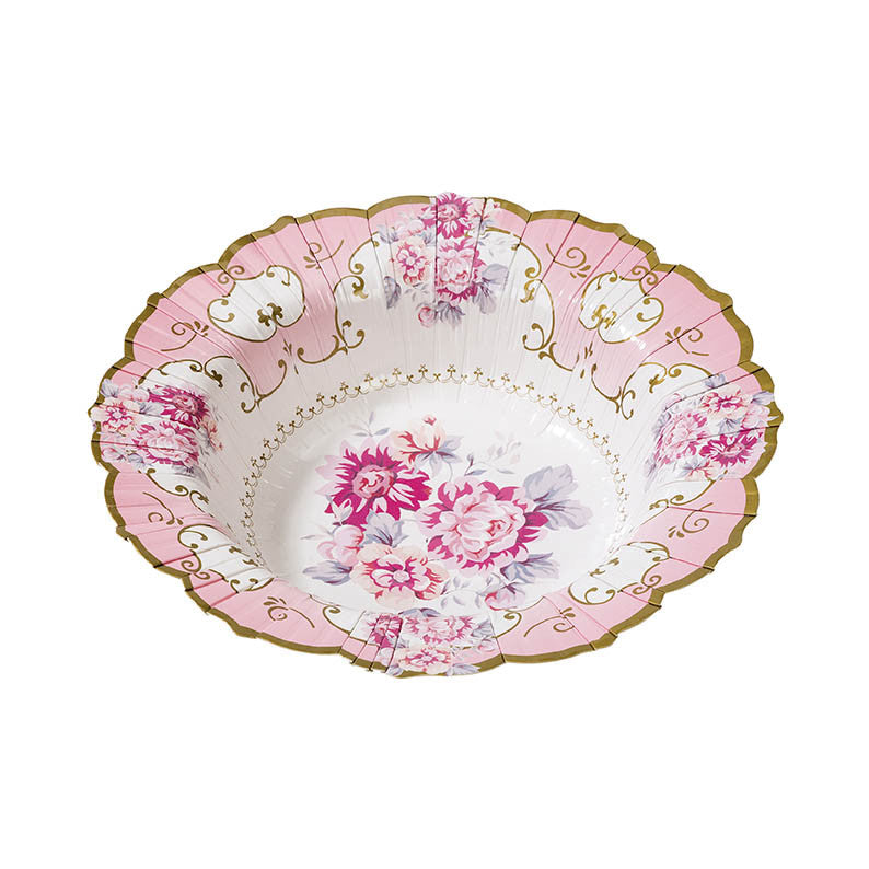 Truly Scrumptious Floral Paper Bowls -  Party Supplies - Talking Tables - Putti Fine Furnishings Toronto Canada - 2