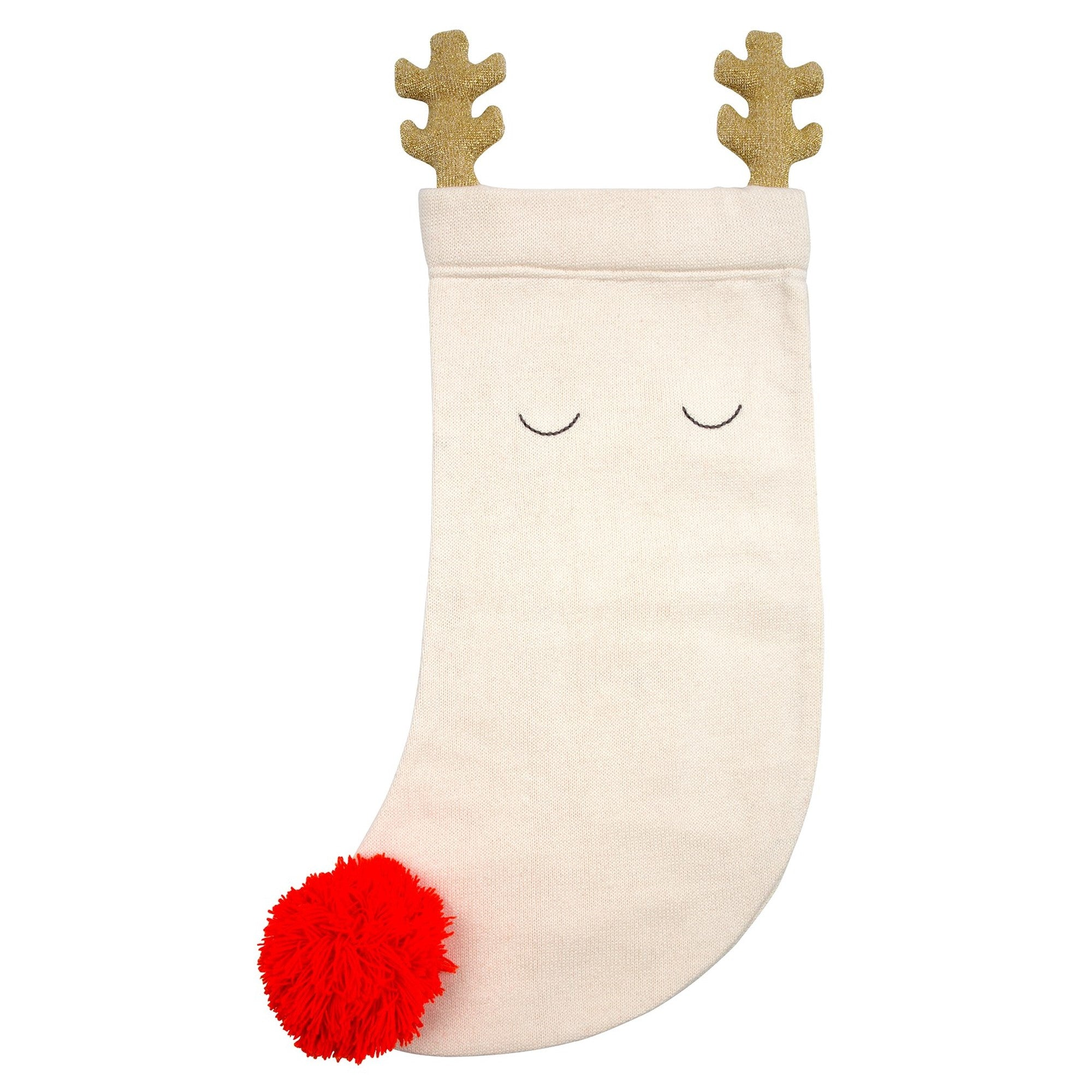 Meri Meri Knitted Reindeer Stocking | Le Petite Putti Christmas Canada