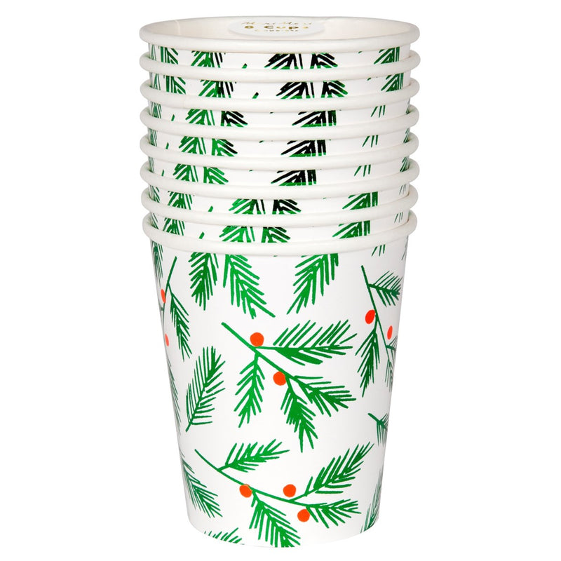 Meri Meri Festive Leaves & Berries Paper Cups | Putti Christmas Canada