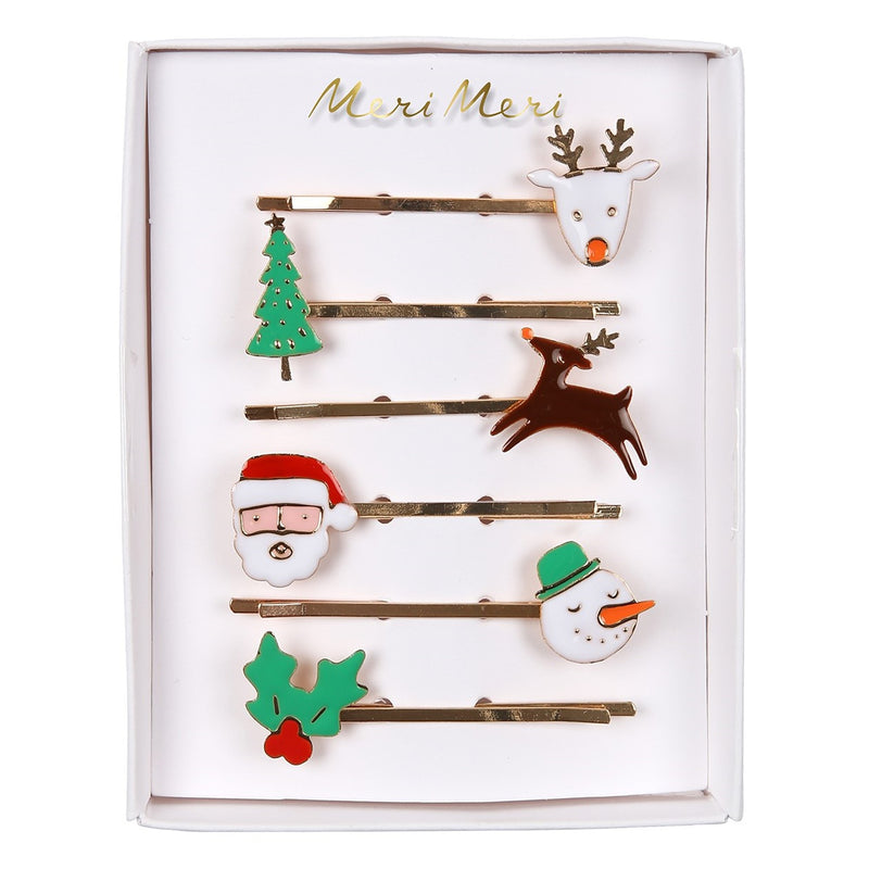 Meri Meri Christmas Enamel Hair Clips