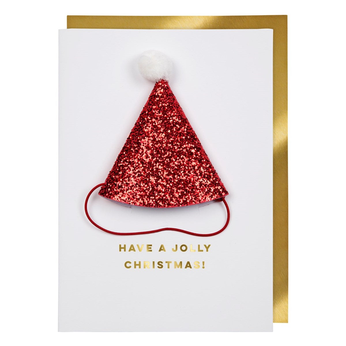 Meri Meri Santa Hat Christmas Card | Putti Christmas Celebrations