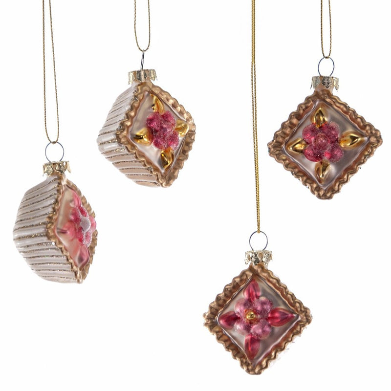Petite Four Glass Ornament, KC-Katherine's Collection, Putti Fine Furnishings