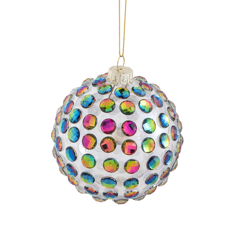 Prism Dot Glass Ball Ornament | Putti Christmas Canada