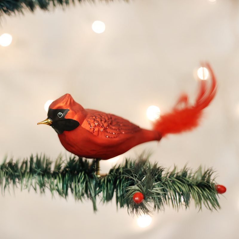 Old World Christmas Red Cardinal Glass Bird Ornament