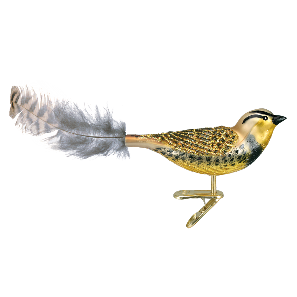 Old World Christmas Meadowlark Glass Bird Ornament -  Christmas Decorations - Old World Christmas - Putti Fine Furnishings Toronto Canada - 1