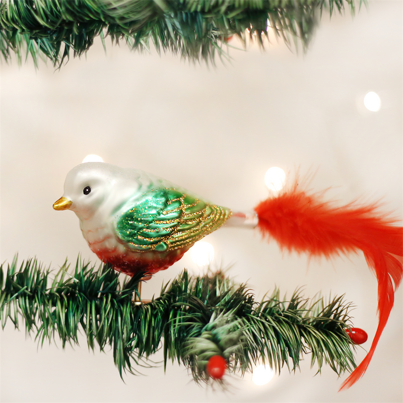 Old Word Christmas Noel Songbird Ornament