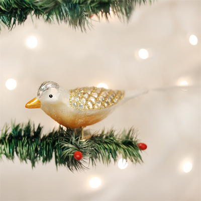 Old Word Christmas Winterland Bird Glass Ornament, OWC-Old World Christmas, Putti Fine Furnishings