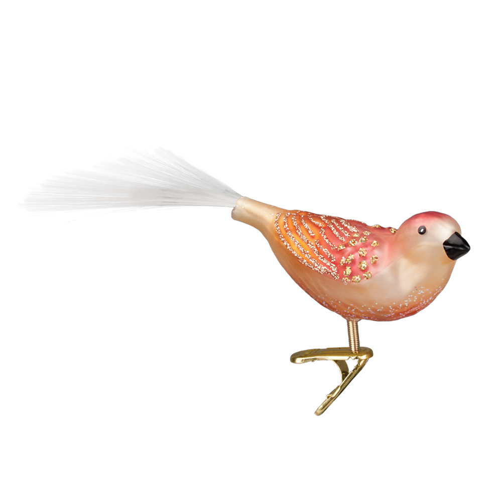 Old World Christmas Just Peachy Song Bird Glass Ornament -  Christmas Decorations - Old World Christmas - Putti Fine Furnishings Toronto Canada - 1