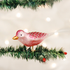 Old World Orchid Blossom Glass Bird Ornament, OWC-Old World Christmas, Putti Fine Furnishings