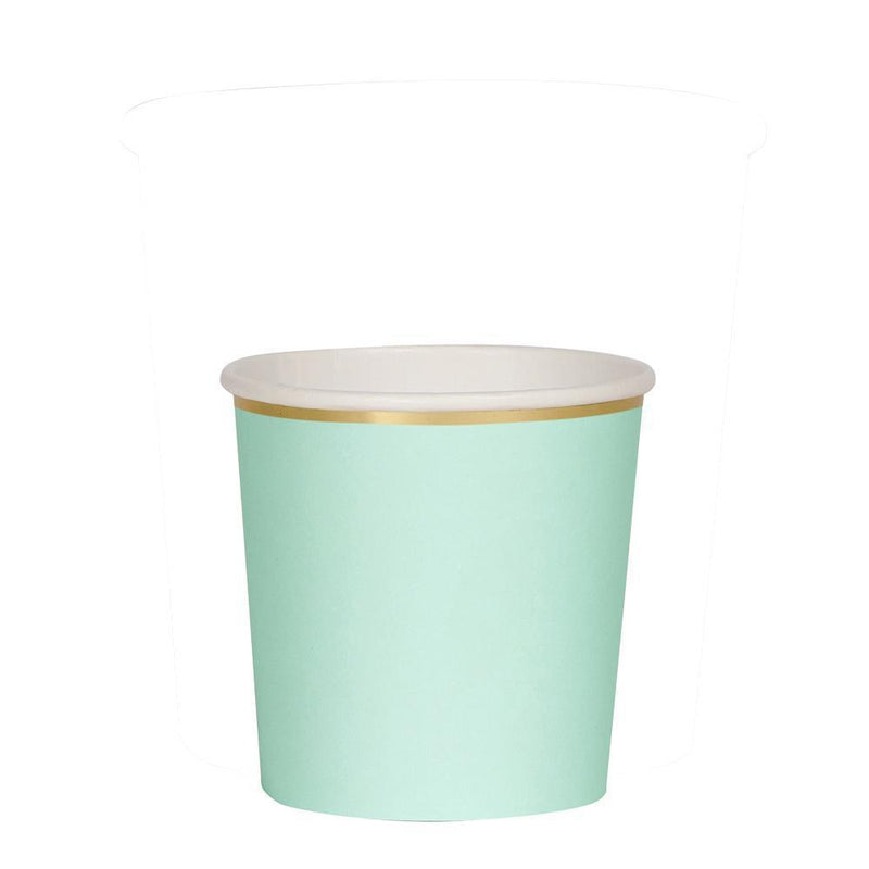 Meri Meri Mint Paper Tumbler Cups | Putti Celebrations