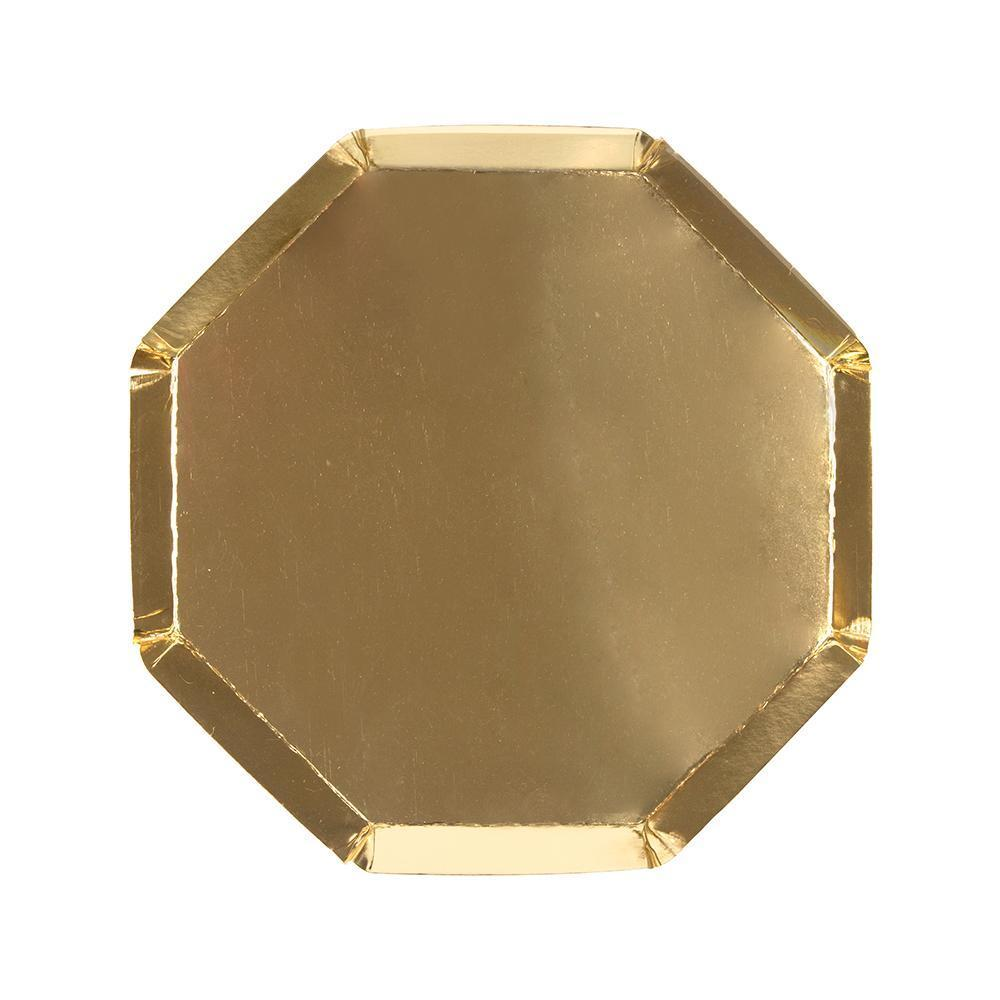 Meri Meri Gold Octagonal Plate - Small | Putti Celebrations