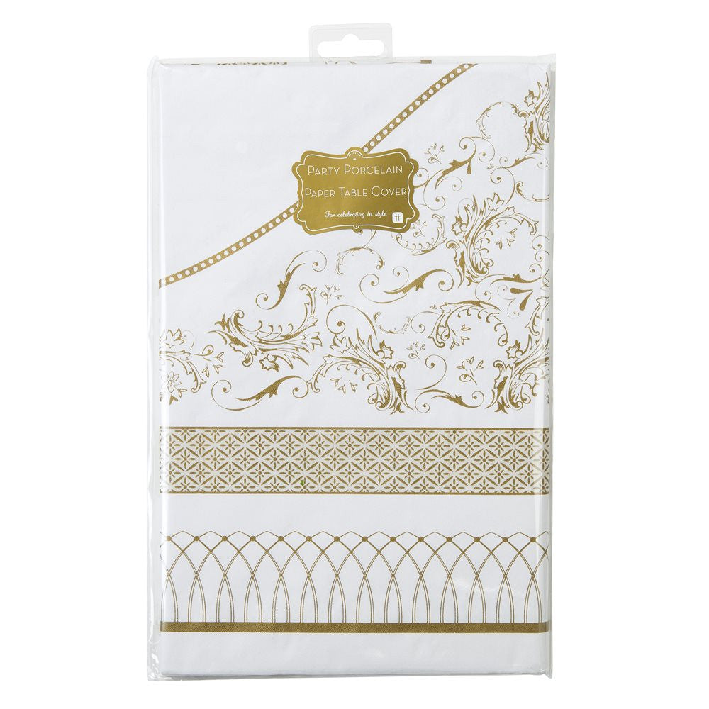 Party Porcelain Gold Paper Table Cover