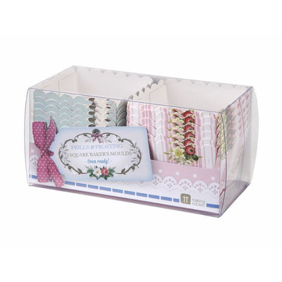 Frills and Frosting Square Treat & Baking Cups -  Party Supplies - Talking Tables - Putti Fine Furnishings Toronto Canada - 2