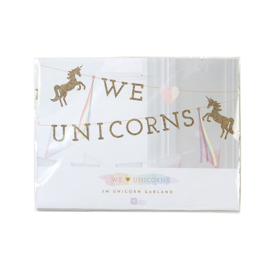"Arriving Soon! ""We Heart Unicorns"" Magical Garland -  Party Decorations - Talking Tables - Putti Fine Furnishings Toronto Canada - 1"