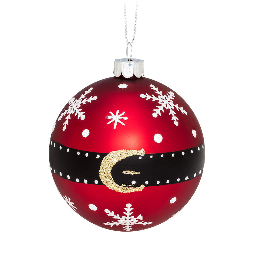 Santa Coat Ball Ornament