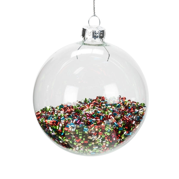 Confetti Filled Ball Ornament -  Christmas - AC-Abbott Collection - Putti Fine Furnishings Toronto Canada