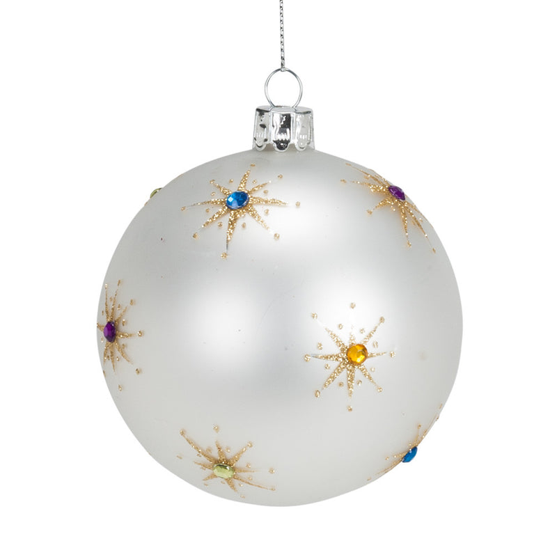 Gem Starburst Ball Ornament -  Christmas Decorations - AC-Abbott Collection - Putti Fine Furnishings Toronto Canada