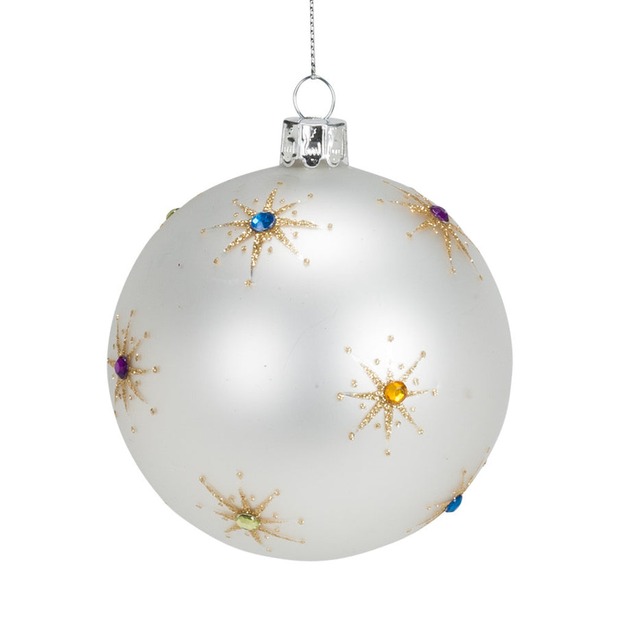 Gem Starburst Ball Ornament