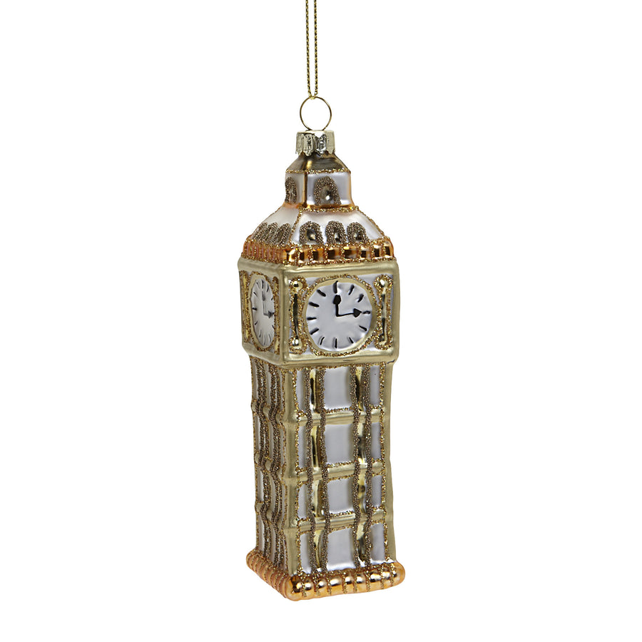 Big Ben Glass Ornament, AC-Abbott Collection, Putti Fine Furnishings