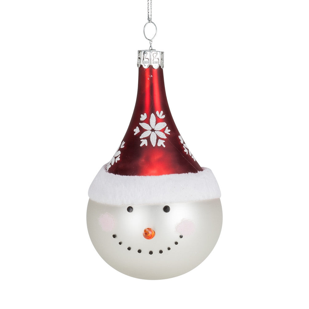 Happy Snowman Head Ornament -  Christmas - AC-Abbott Collection - Putti Fine Furnishings Toronto Canada