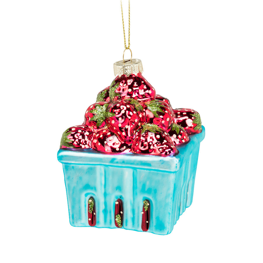 Strawberry Pint Ornament