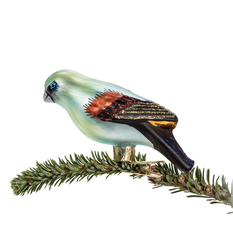 Fancy Blue Bird Ornament, AC-Abbott Collection, Putti Fine Furnishings
