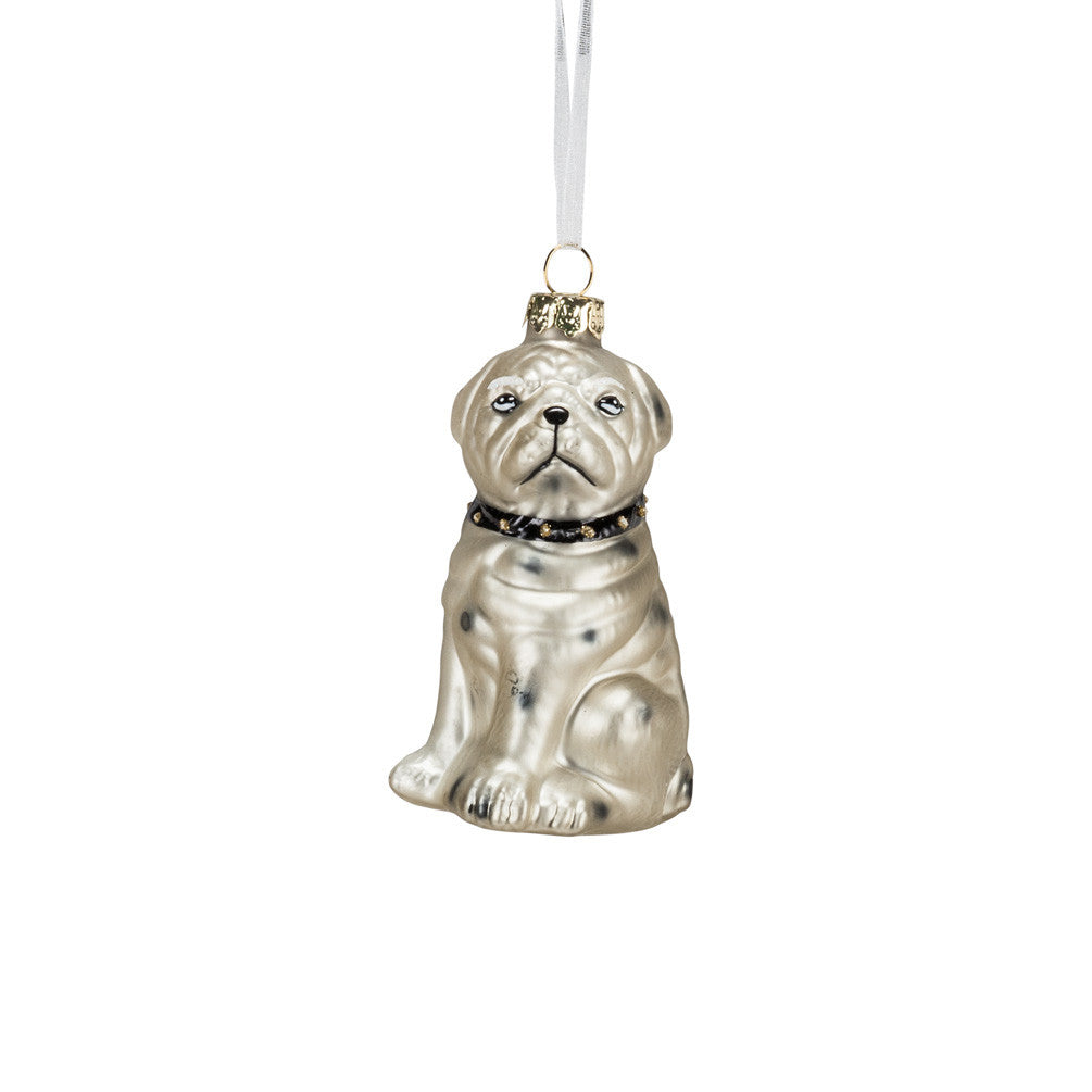 Grumpy Bull Dog Ornament