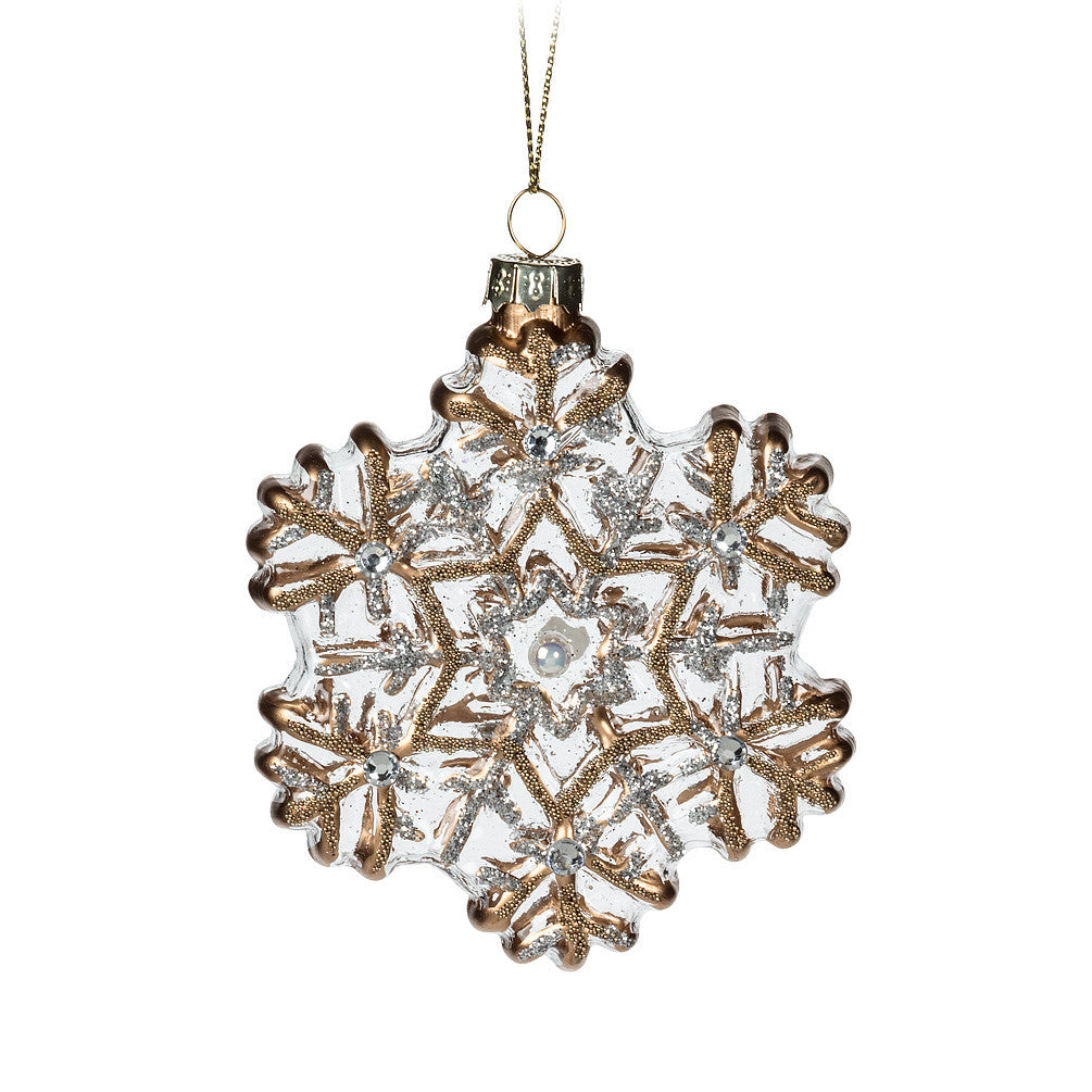 Snowflake with Beads Ornament, AC-Abbott Collection, Putti Fine Furnishings