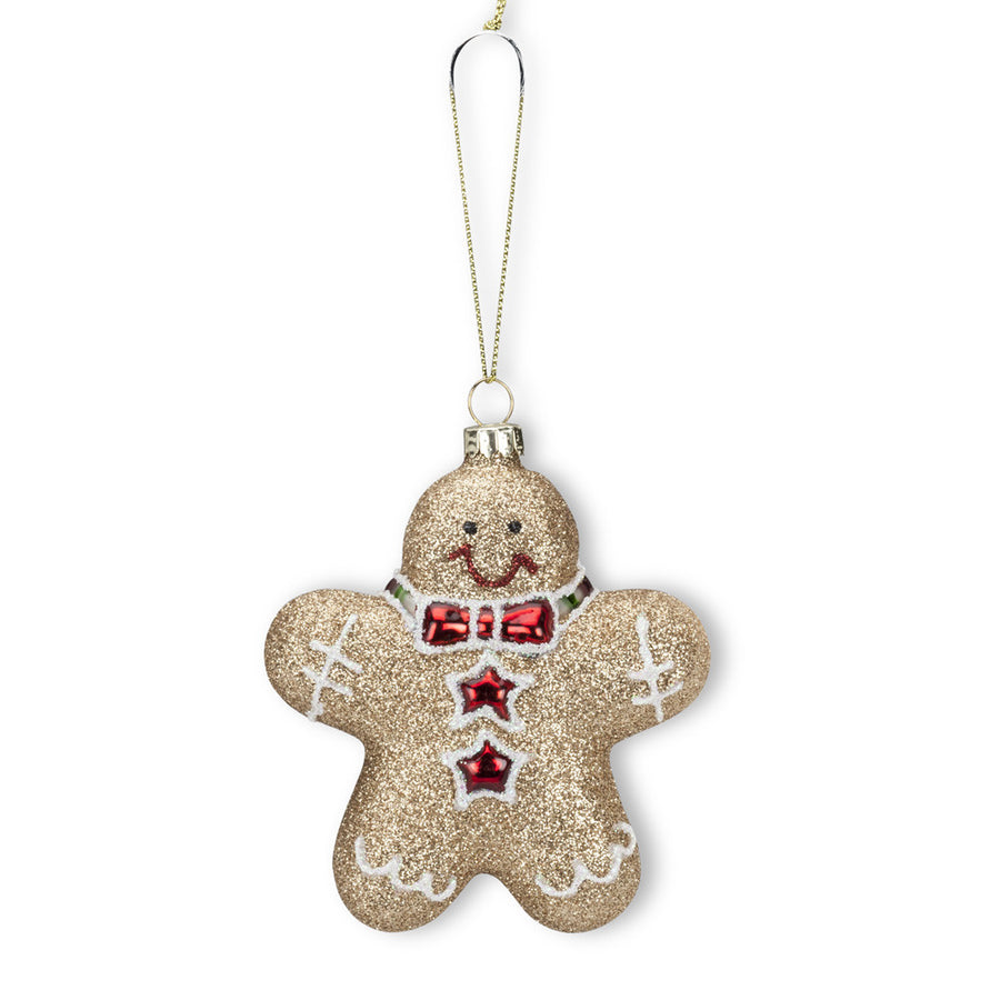 Glitter Gingerbread Ornament