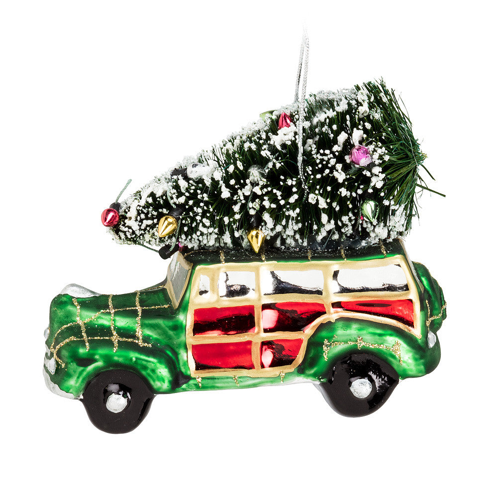 Woody Car with Tree Ornament, AC-Abbott Collection, Putti Fine Furnishings