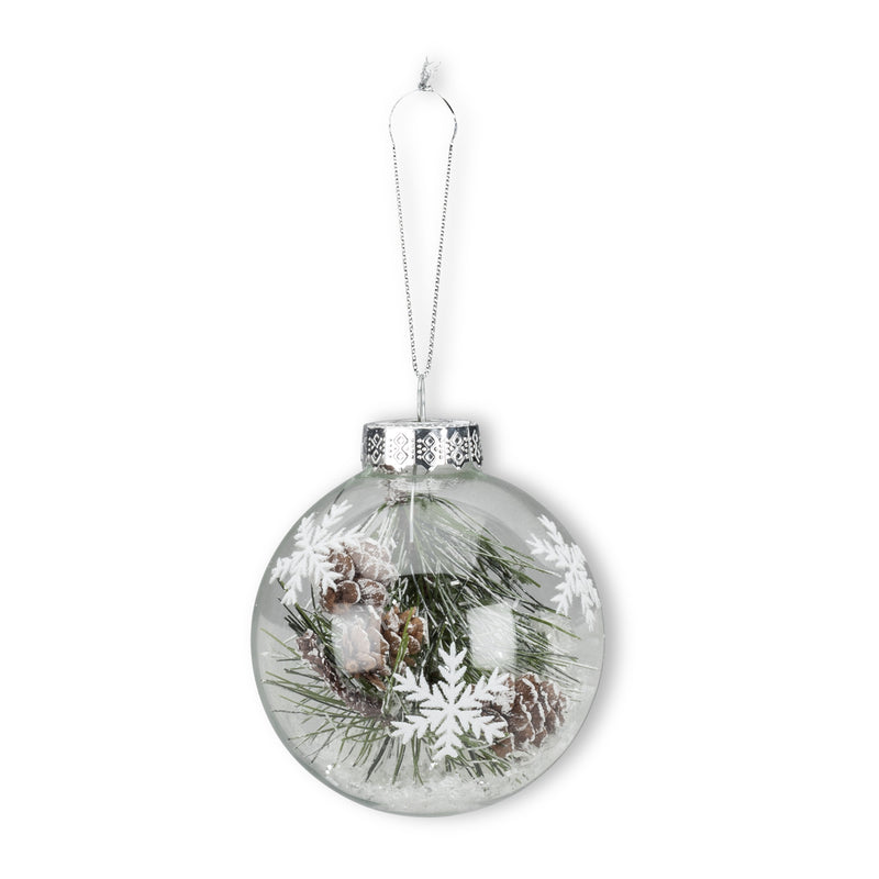 Pine and Bough Snow Ornament -  Christmas - AC-Abbott Collection - Putti Fine Furnishings Toronto Canada