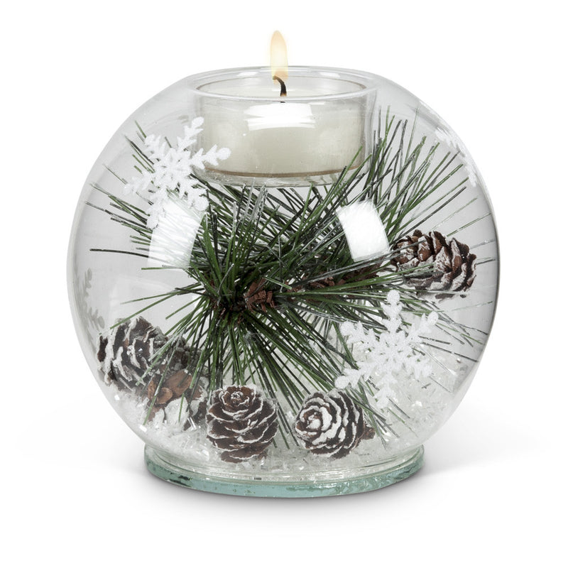 Pine Bough & Snow Votive