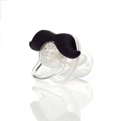 "Mustachifier Pacifier ""The Gentleman"" - Black -  Children's - TTG-The Tate Group - Putti Fine Furnishings Toronto Canada - 2"