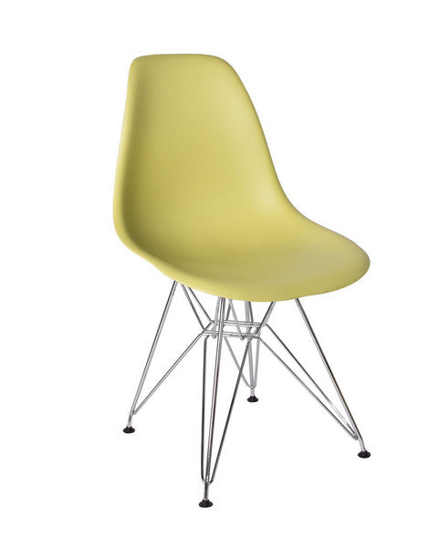 """Eifle"" Mid Century Chair - Lime"