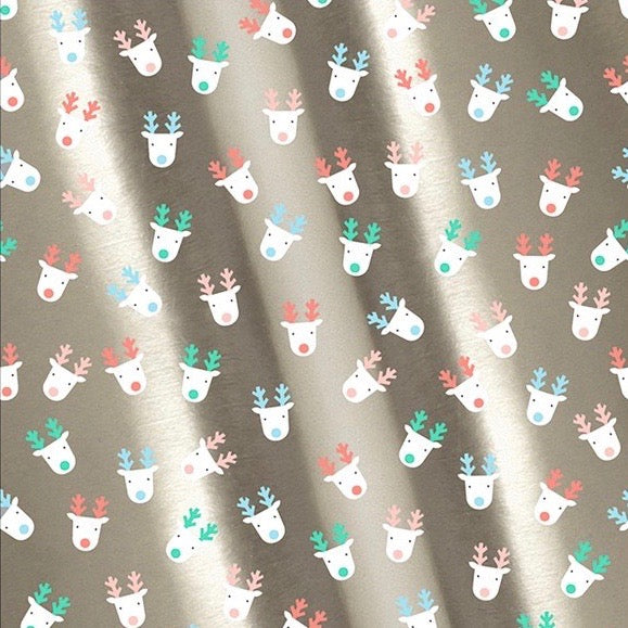 Meri Meri Silver Reindeer Gift Wrap Roll | Putti Christmas Celebrations