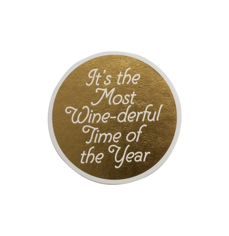 Floor 9 Winederful Letterpress Coaster Set - Putti Christmas Canada