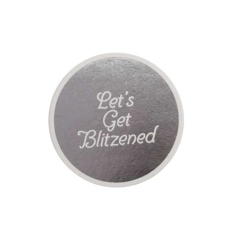 Blitzened Letterpress Coaster Set