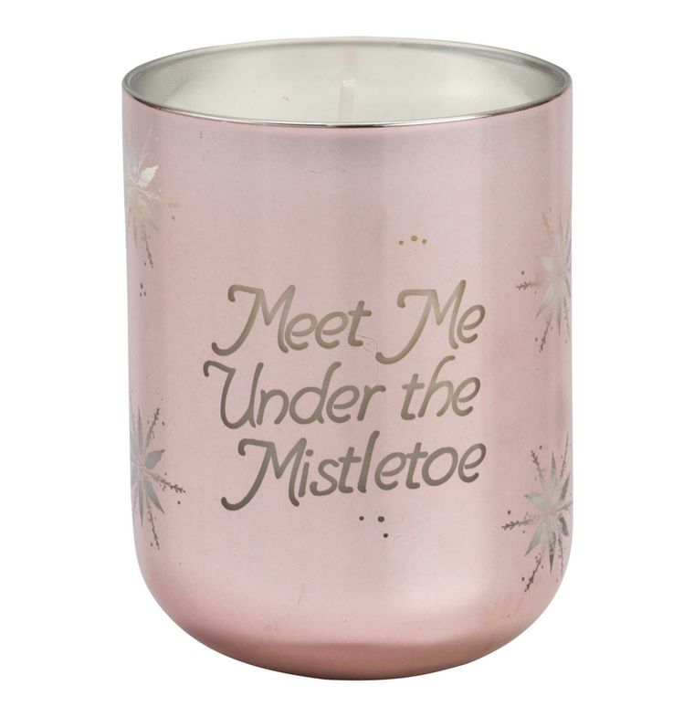 "Floor 9 Rose Gold ""Meet me under the Mistletoe"" Holiday Scented Candle - Putti"