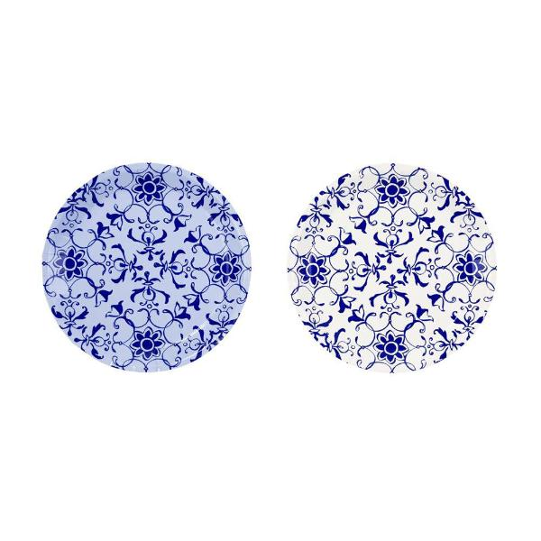Party Porcelain Blue Canape Paper Plate