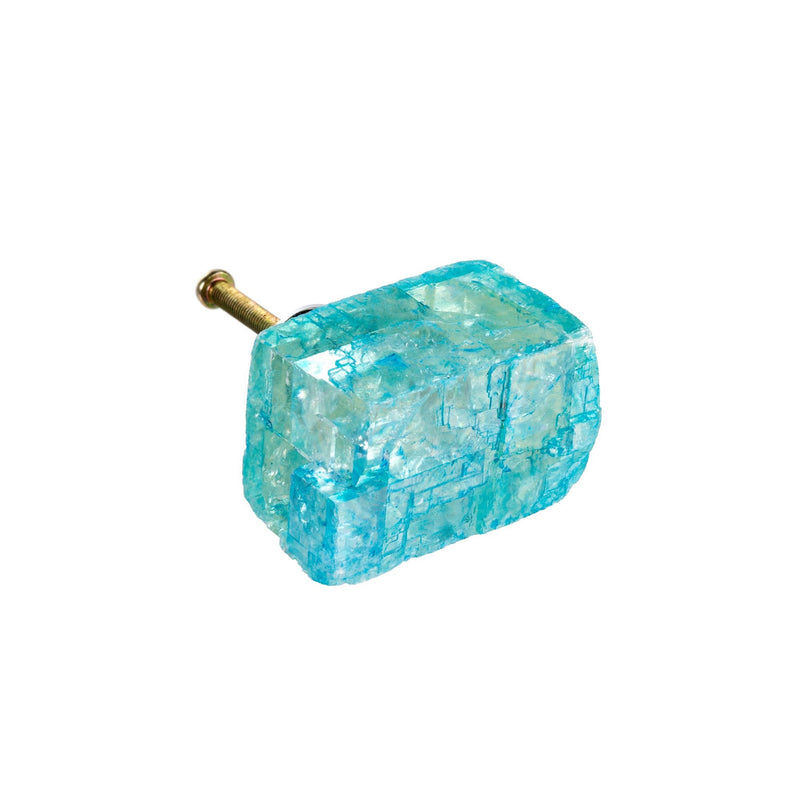 Calcite Knob - Light Blue